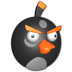 72x72px size png icon of Bird black
