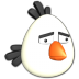 72x72px size png icon of Bird white