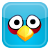 72x72px size png icon of blue bird
