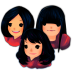 72x72px size png icon of Three Girls