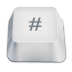 72x72px size png icon of hash