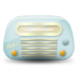 72x72px size png icon of vintage radio 01 blue