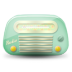 72x72px size png icon of vintage radio 02 green dark