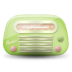 72x72px size png icon of vintage radio 03 green