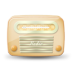 72x72px size png icon of vintage radio 04 yellow
