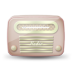 72x72px size png icon of vintage radio 06 red