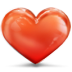 72x72px size png icon of heart clean