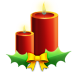 72x72px size png icon of Candles with ribbon