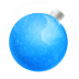 72x72px size png icon of Christmas ball blue
