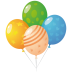 72x72px size png icon of balloons