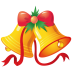 72x72px size png icon of christmas bells