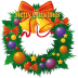 72x72px size png icon of christmas wreath