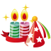 72x72px size png icon of party hat candles