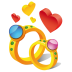 72x72px size png icon of ring hearts