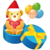 72x72px size png icon of teddy gift
