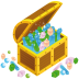 72x72px size png icon of treasure chest open