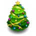 72x72px size png icon of chrismas tree