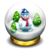 72x72px size png icon of glass snow ball