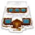 72x72px size png icon of house with snow