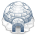 72x72px size png icon of igloo