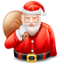 72x72px size png icon of santa claus