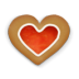 72x72px size png icon of christmas cookie heart