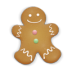 72x72px size png icon of christmas cookie man
