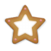 72x72px size png icon of christmas cookie star