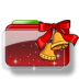 72x72px size png icon of Christmas Folder Bells Stars