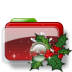 72x72px size png icon of Christmas Folder Holly 2