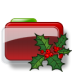 72x72px size png icon of Christmas Folder Holly