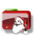 72x72px size png icon of Christmas Folder Santa