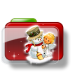 72x72px size png icon of Christmas Folder Snowman