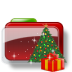 72x72px size png icon of Christmas Folder Tree Gift