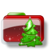 72x72px size png icon of Christmas Folder Tree