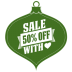 72x72px size png icon of Sale 50 percent off heart green