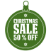 72x72px size png icon of christmas sale 50 percent off