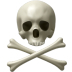 72x72px size png icon of Skull and bones