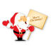 72x72px size png icon of santa merry christmas