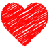 72x72px size png icon of Heart Doodle