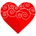 72x72px size png icon of Heart Round Pattern