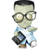 72x72px size png icon of geek zombie