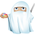 72x72px size png icon of ninja ghost