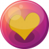 72x72px size png icon of heart orange 1