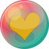 72x72px size png icon of heart orange 2