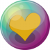 72x72px size png icon of heart orange 3