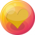 72x72px size png icon of heart orange 4