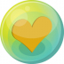 72x72px size png icon of heart orange 5
