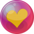 72x72px size png icon of heart orange 6