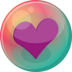 72x72px size png icon of heart purple 2